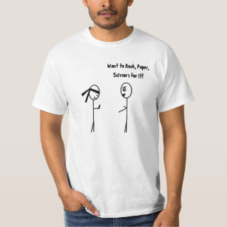 Never Challenge a Ninja to Rock, Paper, Scissors. T-Shirt