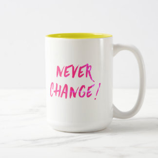 never change mug customize color and replace