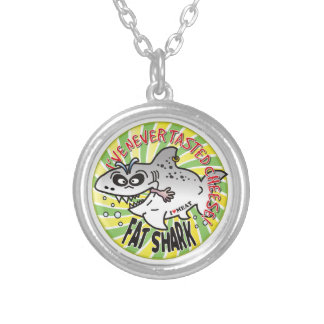 Never Cheese Fat Shark Necklace