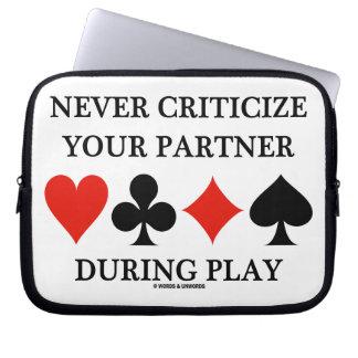 Never Criticize Your Partner During Play (Bridge) Laptop Sleeve