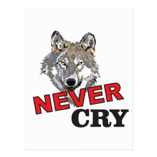 never cry wolf postcard