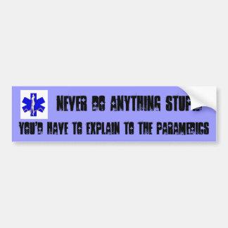 NEVER do anything stupid Bumper Sticker