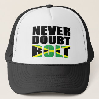 Never Doubt Bolt Jamaican Flag T-shirt Trucker Hat
