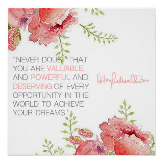 Never Doubt - Hillary Clinton Poster