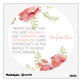 Never Doubt - Hillary Clinton Wall Decal (round)