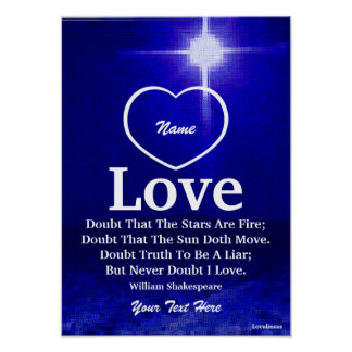 Never Doubt I Love You Poster-Customize