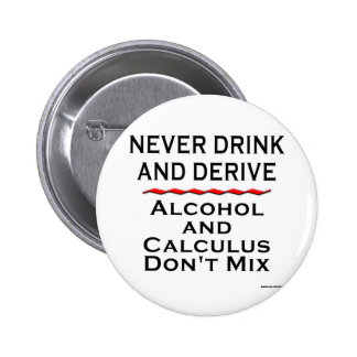 Never Drink and Derive 2 Inch Round Button
