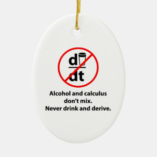 Never Drink And Derive Ceramic Ornament