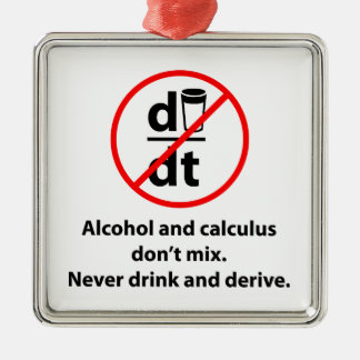 Never Drink And Derive Metal Ornament