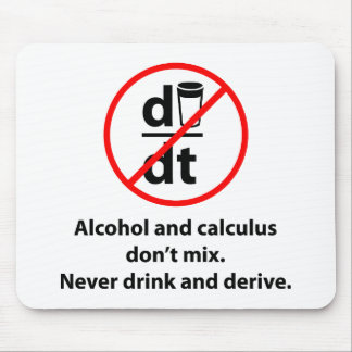 Never Drink And Derive Mouse Pad