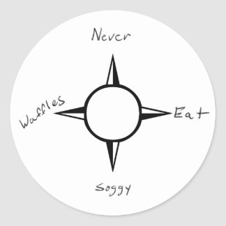 Never Eat Soggy Waffles - Compass Classic Round Sticker