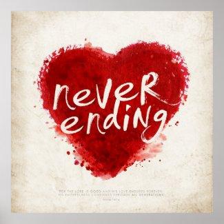 never ending love poster