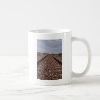 Never Ending Railroad Tracks Coffee Mug