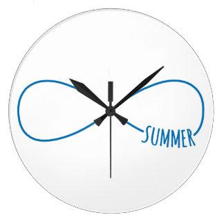 Never ending summer large clock