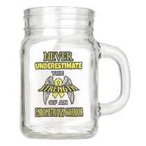 NEVER...Endometriosis Mason Jar