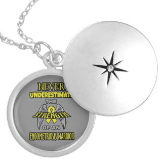 NEVER...Endometriosis Silver Plated Necklace