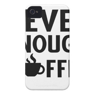 NEVER ENOUGH COFFEE Case-Mate iPhone 4 CASE