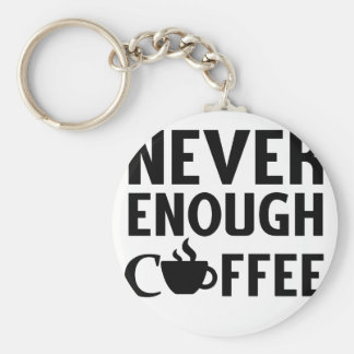 NEVER ENOUGH COFFEE KEYCHAIN
