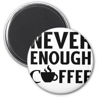 NEVER ENOUGH COFFEE MAGNET