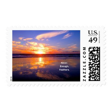 Beach Themed Never Enough Feathers Sunset Postage