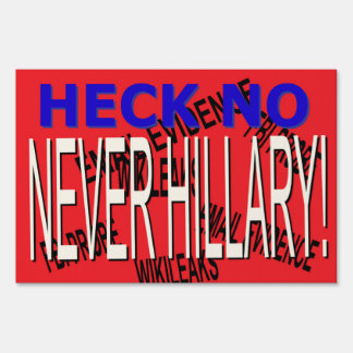 NEVER EVER EMAIL EVIDENCE YARD SIGN
