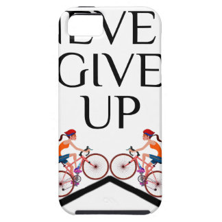 Never ever give up keep going iPhone SE/5/5s case