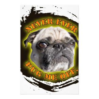 never ever pug me off stationery