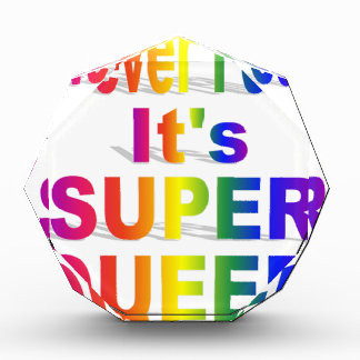 Never Fear it's Super Queer Rainbow text Award