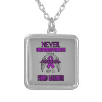 Never...Fibro Warrior Silver Plated Necklace