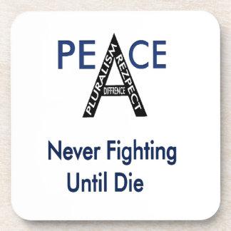 Never Fighting Until Die Beverage Coaster