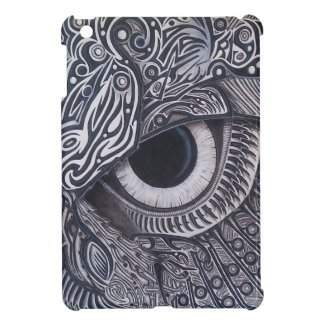Never Finished Tribal owl Eye Cover For The iPad Mini