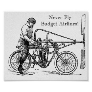 Never Fly Budget Airlines - Poster