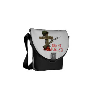 Never Forget 2.png Messenger Bags