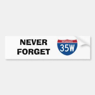 Never Forget 35W Car Bumper Sticker