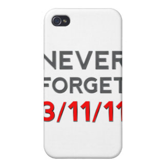 Never Forget 3-11-2011 iPhone 4 Cover