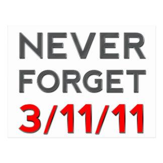 Never Forget 3-11-2011 Postcard