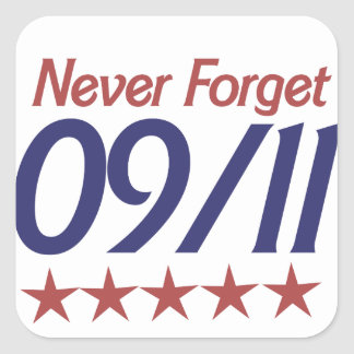 Never Forget 911 Square Sticker