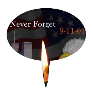 Never Forget 9-11-01 Cake Topper