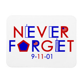 Never Forget 9-11-01 Magnet