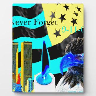 Never Forget 9-11-01 Negative Plaque
