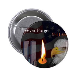 Never Forget 9-11-01 Pinback Button