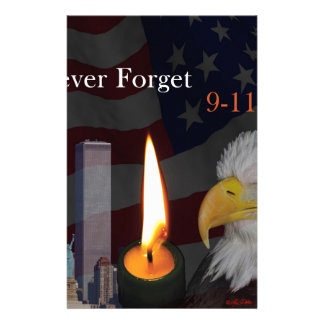 Never Forget 9-11-01 Stationery