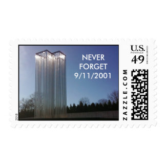 NEVER FORGET 9/11/2001 POSTAGE STAMP