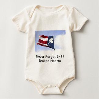 Never Forget 9/11 – Broken Hearts Baby Bodysuit