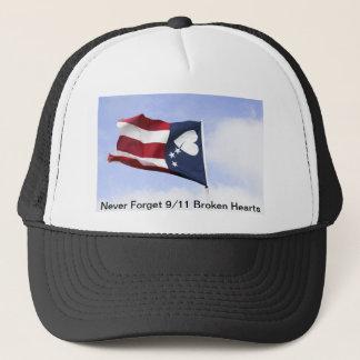 Never Forget 9/11 – Broken Hearts Trucker Hat