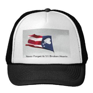 Never Forget 9/11 Broken Hearts Trucker Hat