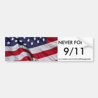 NEVER FORGET 9/11 bumper sticker Car Bumper Sticker