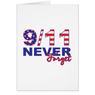 Never Forget 9/11 Card