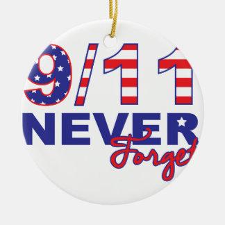 Never Forget 9/11 Ceramic Ornament