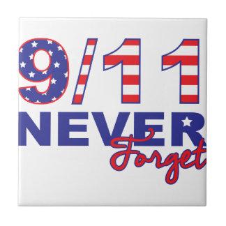 Never Forget 9/11 Ceramic Tile